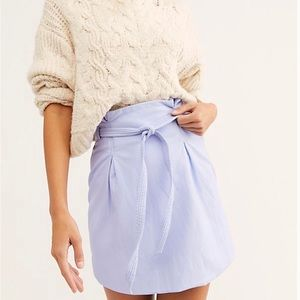 NWT Free People Payton Paperbag Waist Skirt